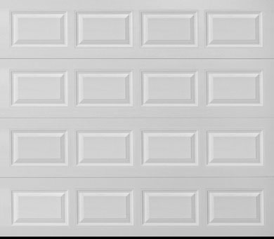 Amarr white short panel garage door the big door for Fimbel garage door prices